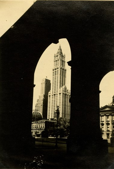 Woolworth Building Through Arch