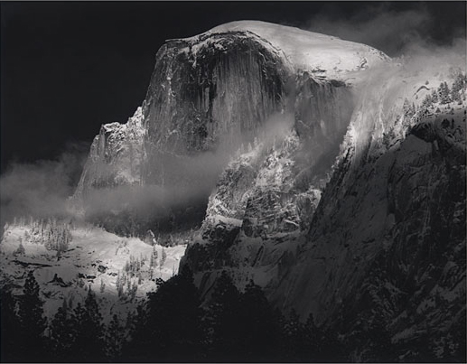 Portrait of Half Dome, California