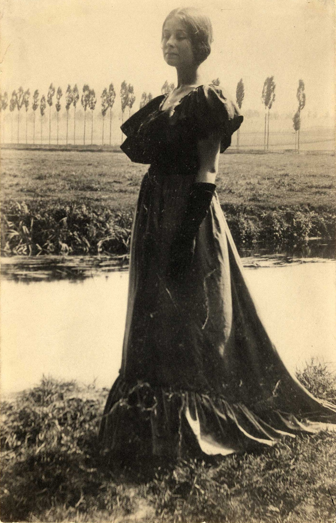 Italy (Woman standing by a stream), ca. 1889