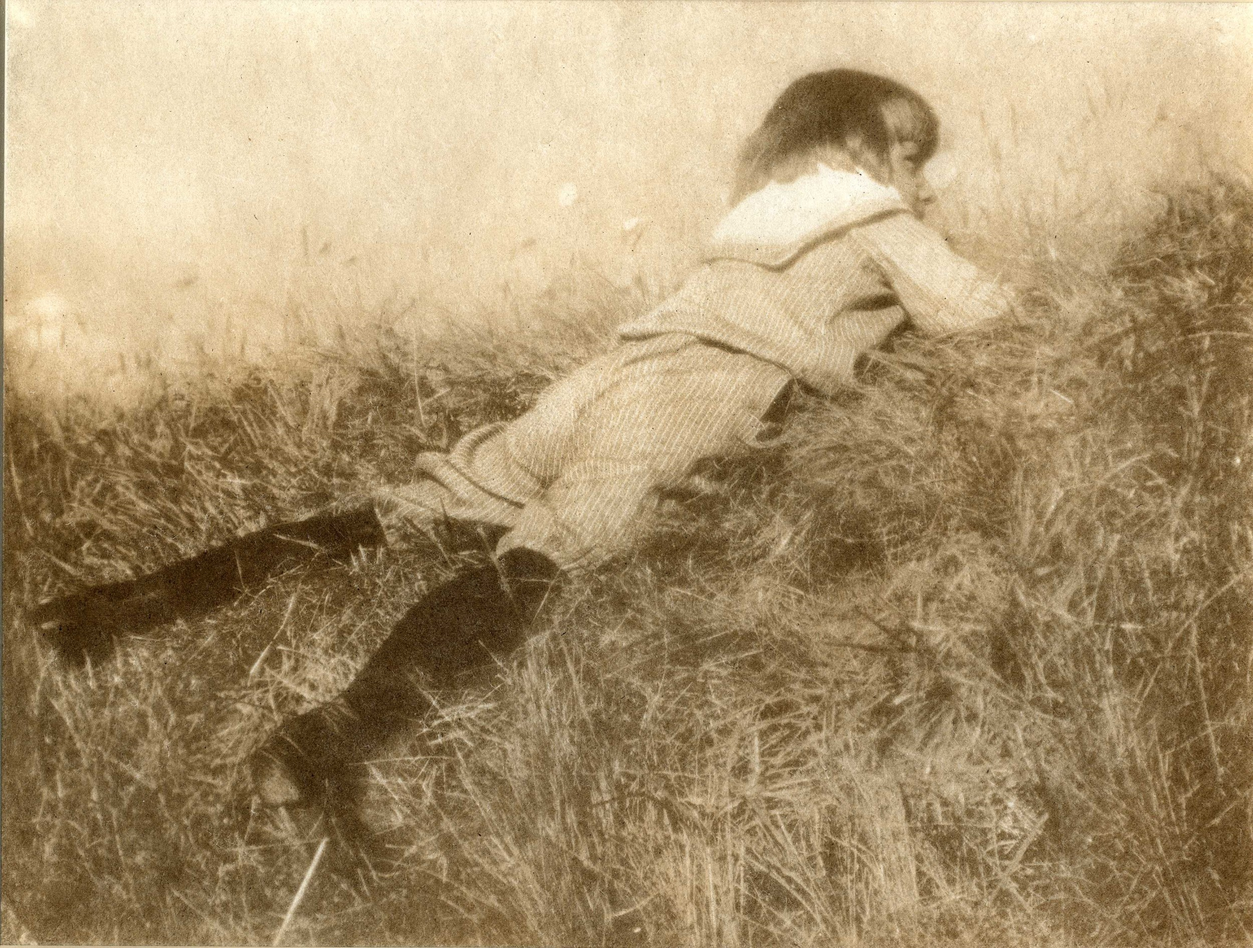 Hans in the grass, ca. 1907