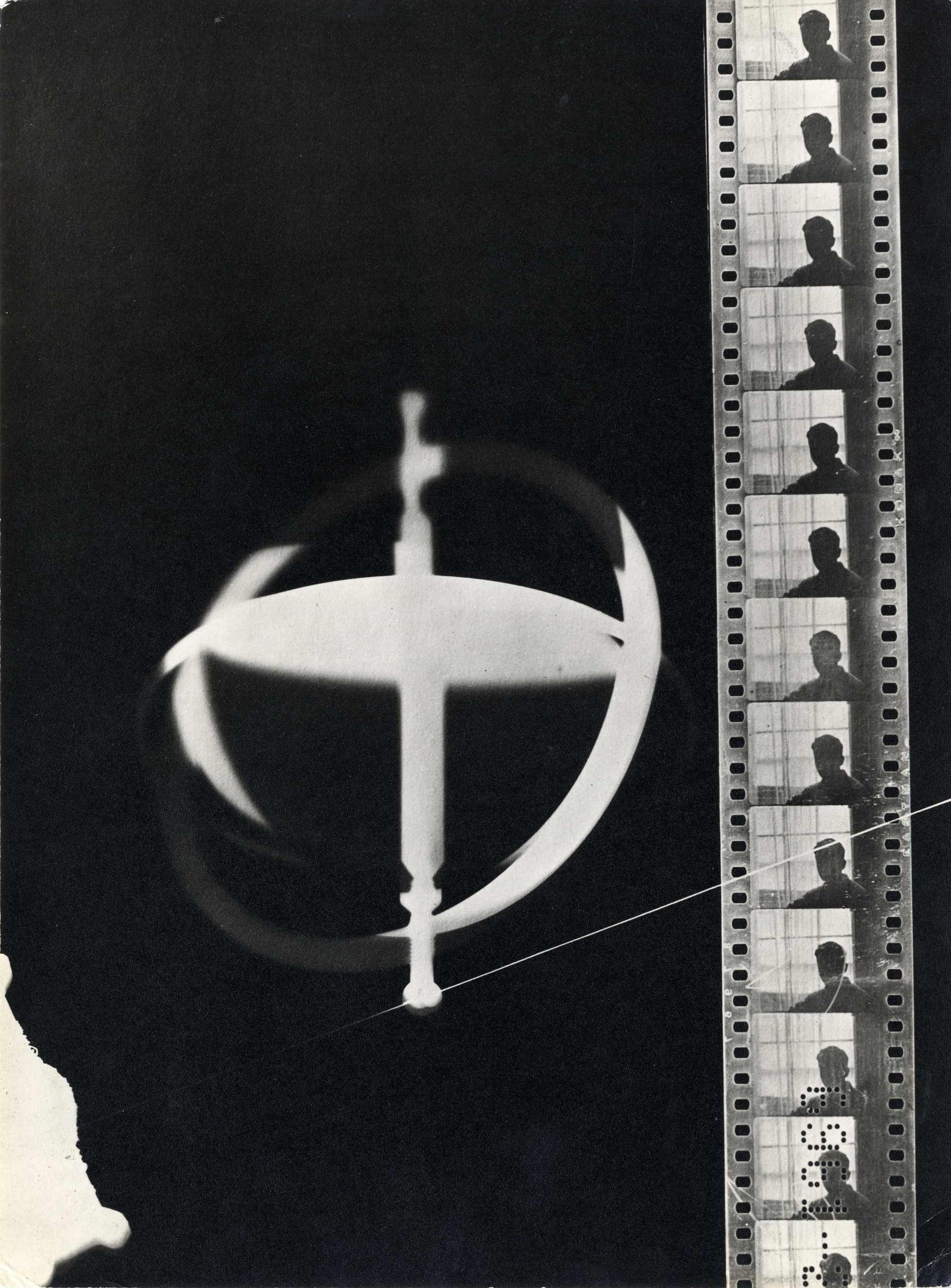Rayograph with film strip, 1922