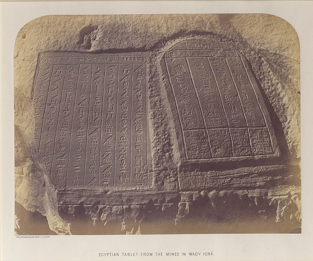 Egyptian Tablet from the Mines in Wadi Igna