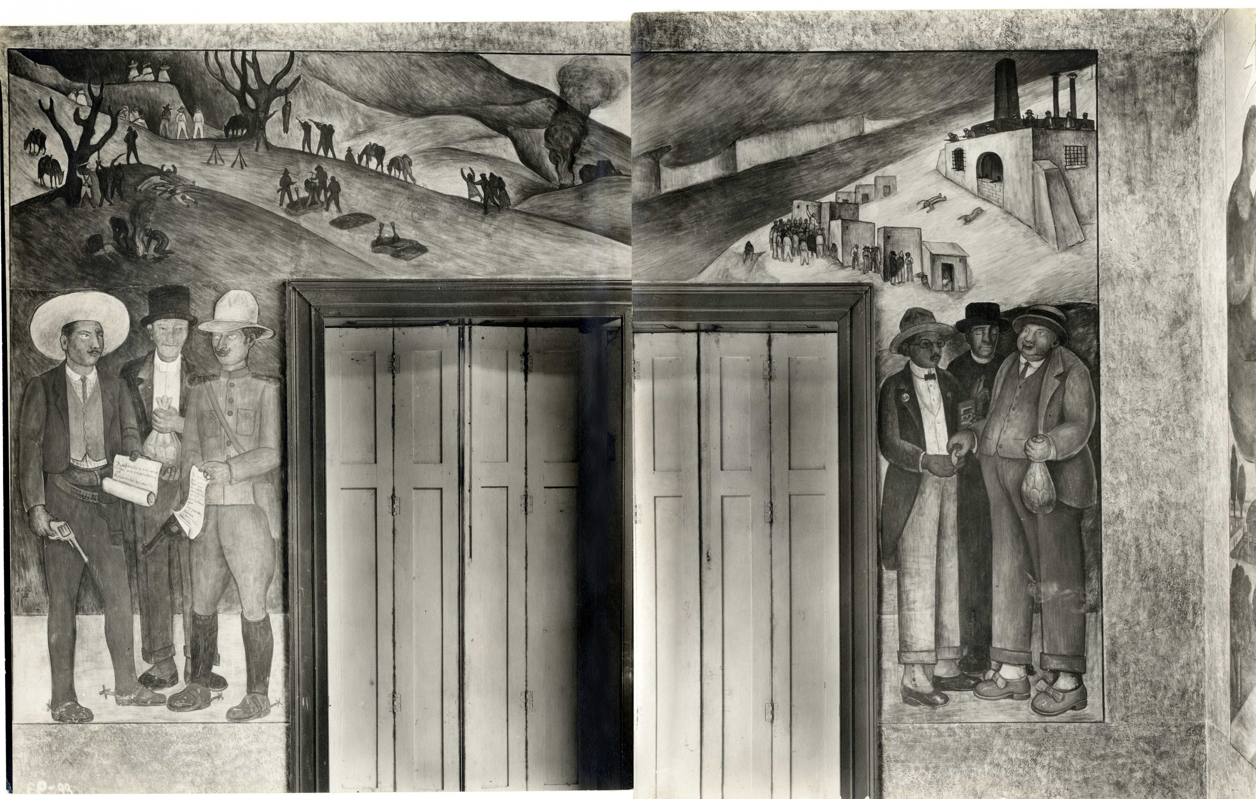 Diego Rivera mural study (�Exchange of Land and Money�), 1926-28