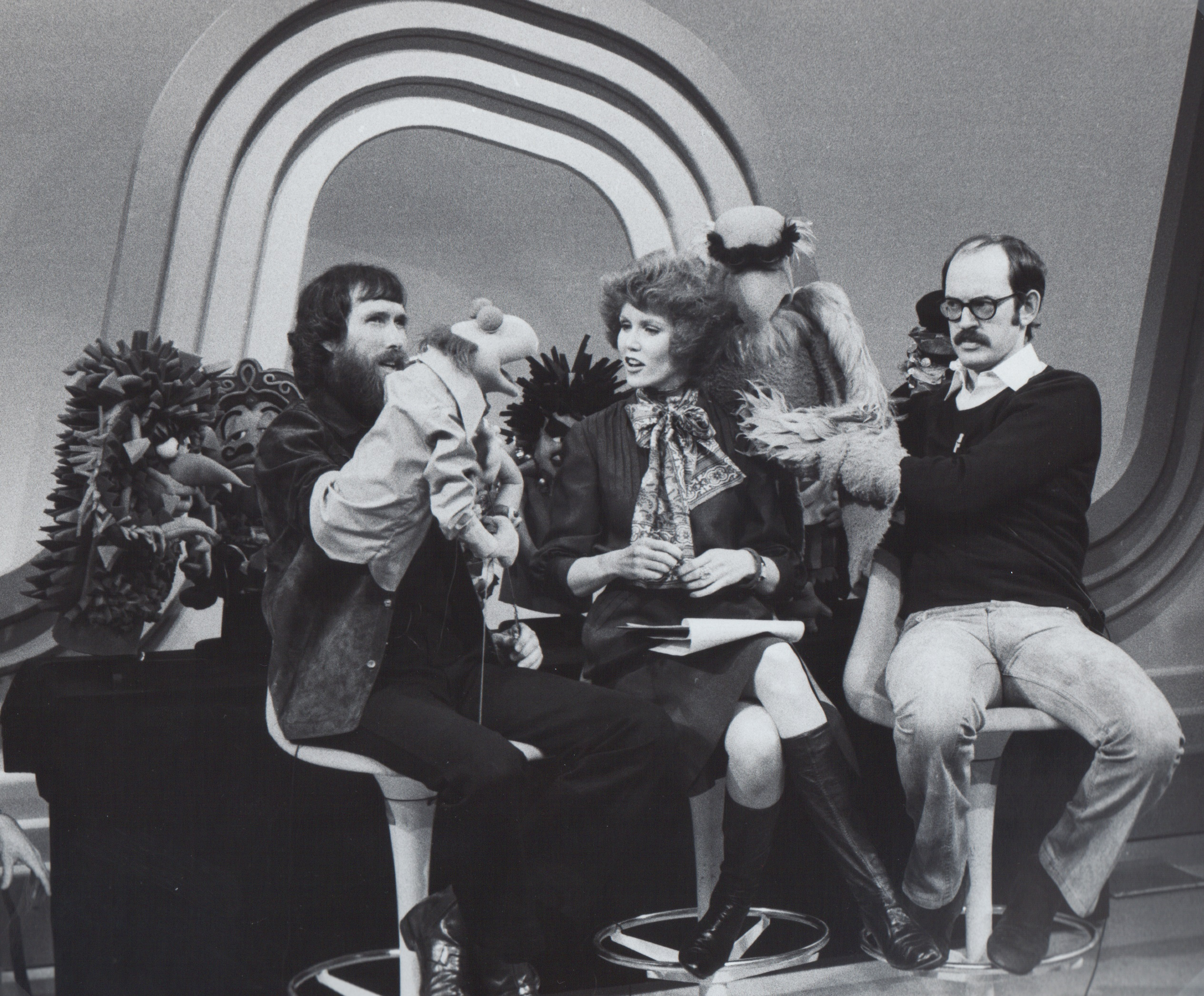 Jim Hensen, Stephanie, Frank Oz & Muppets, ABC TV 1975
