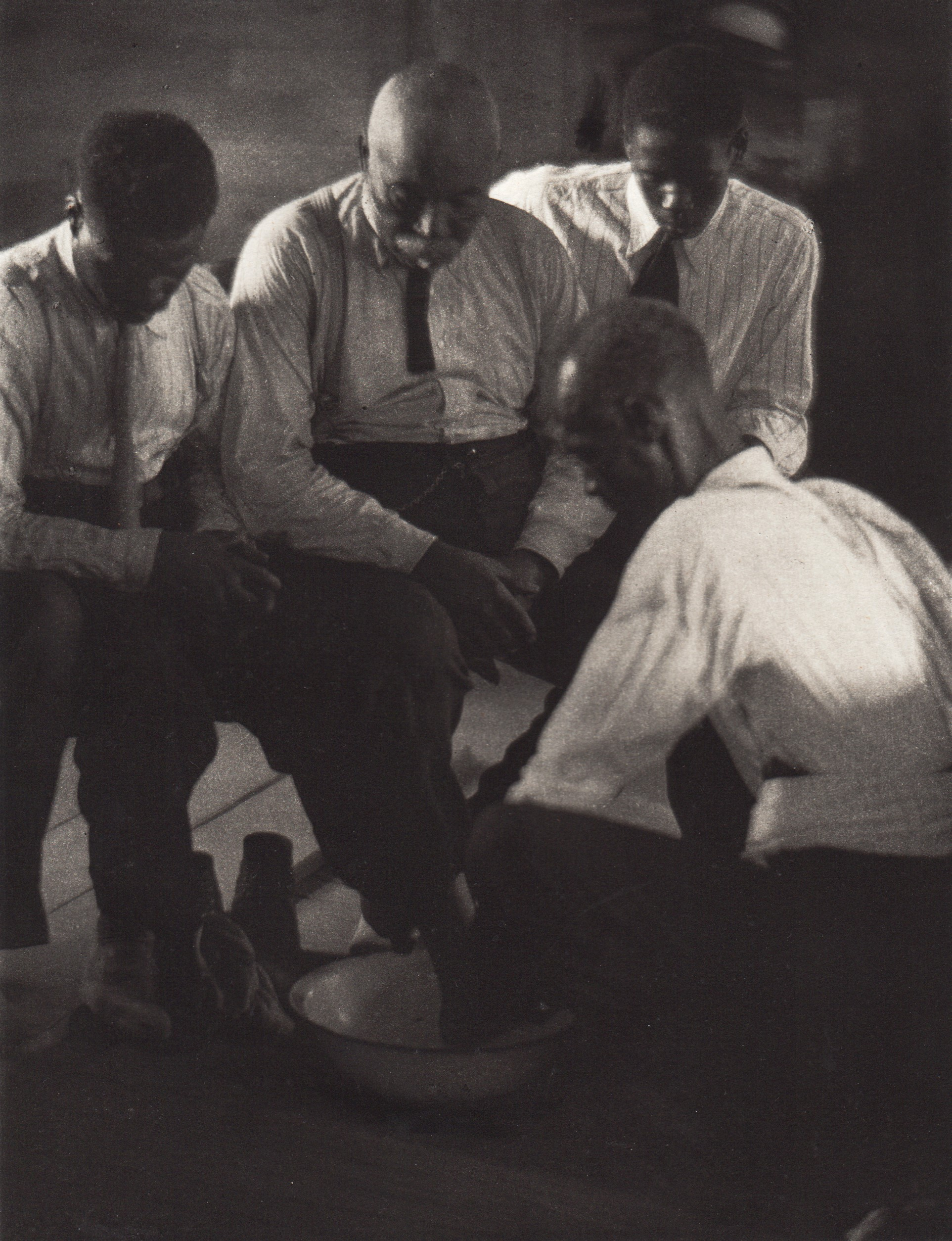 Foot-Washing Ceremony, Four Men