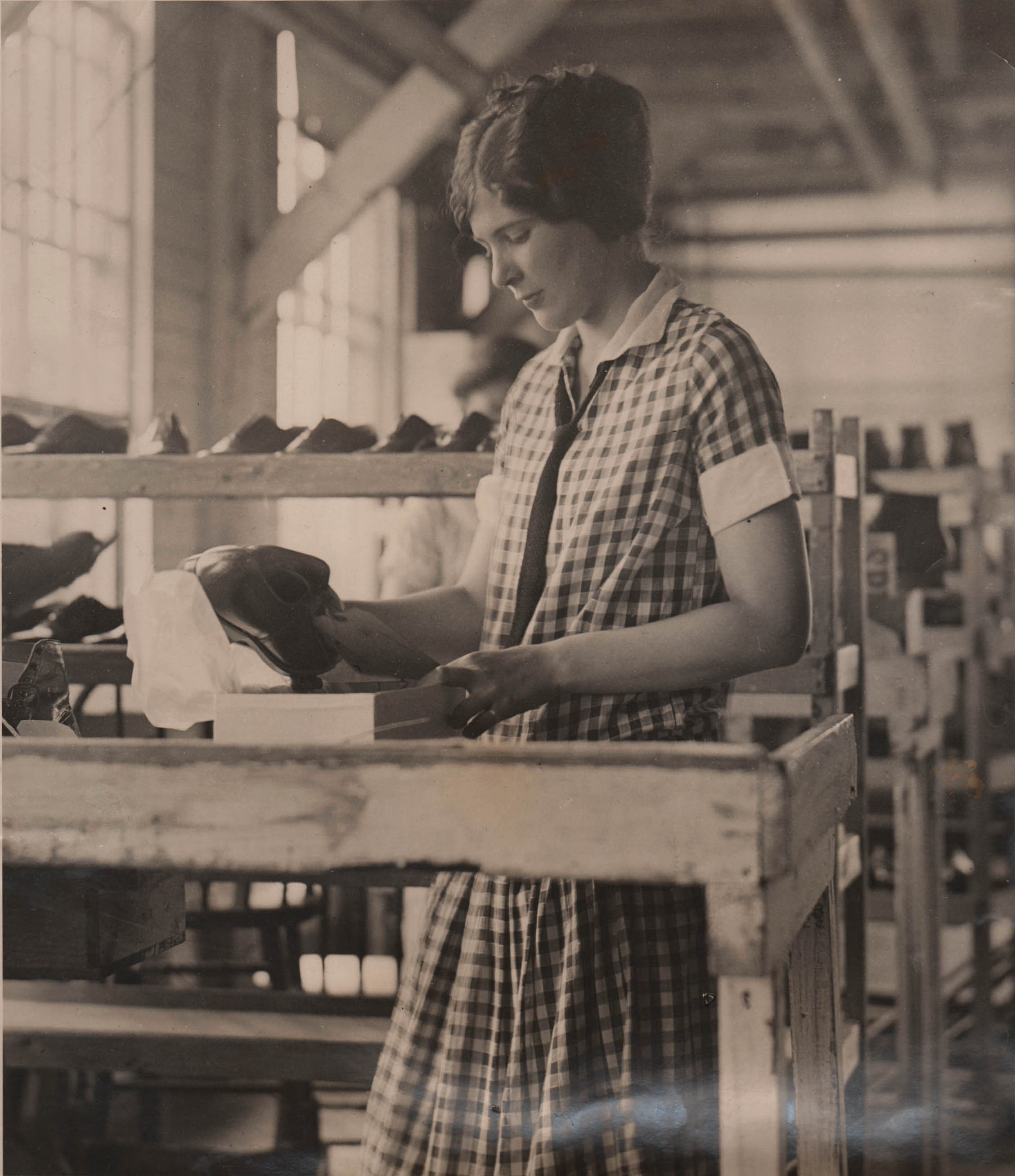 Alice Earns Money at Thayer Show Factory, East Rochester 1926