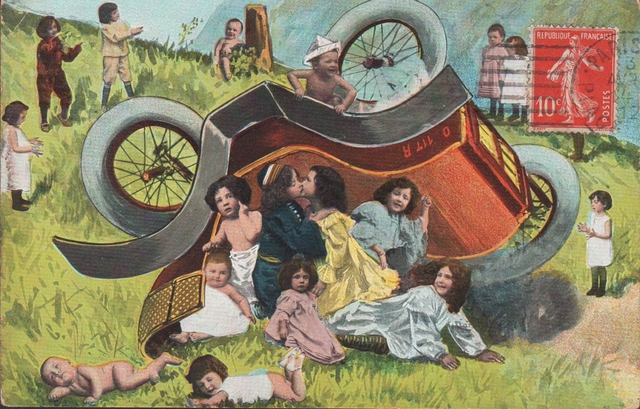 Children and an Overturned Carriage