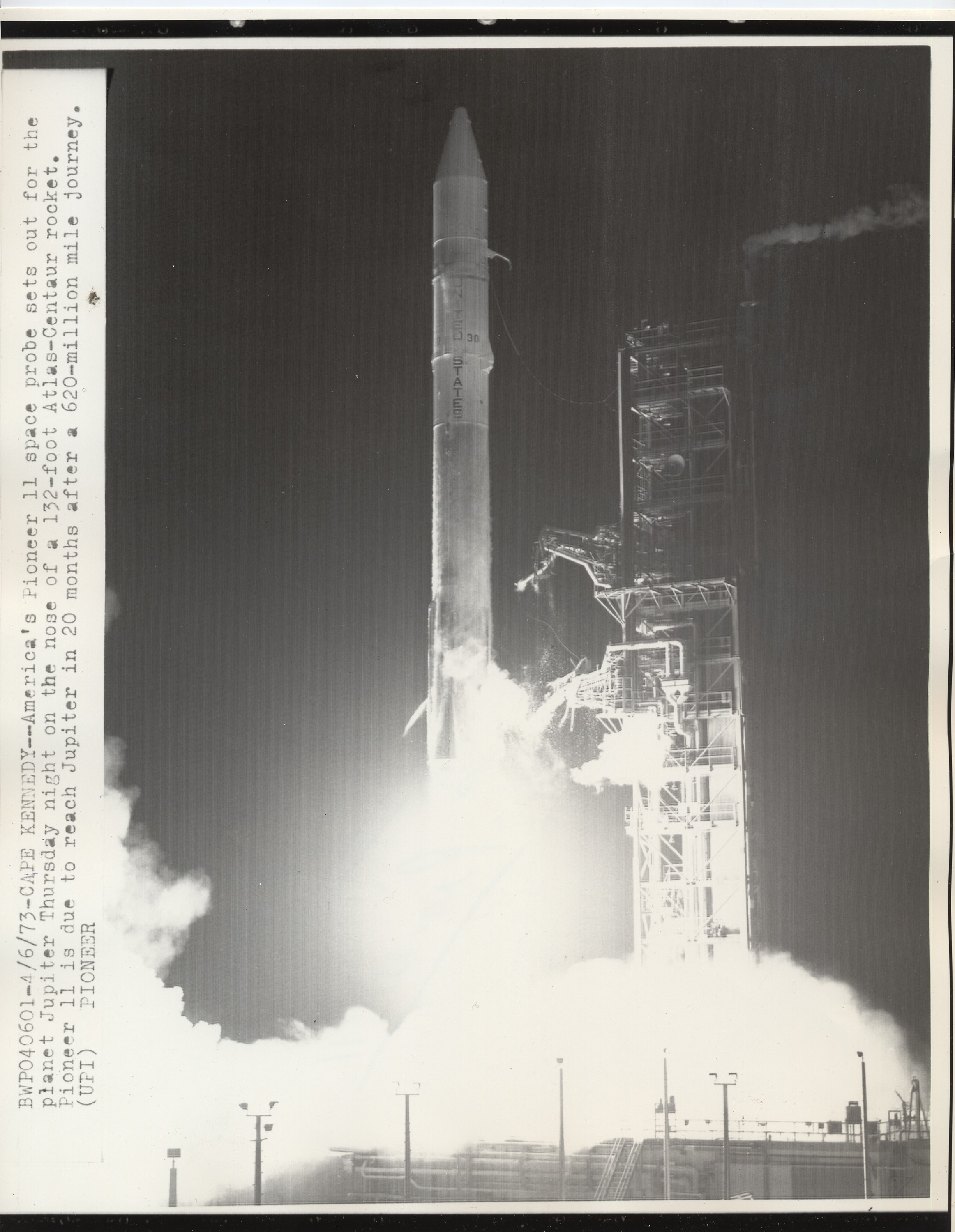 Pioneer 11 blast off, Cape Kennedy