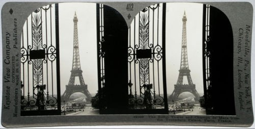The Eiffel Tower and Champs de Mars from the Trocadero Palace, Paris, France