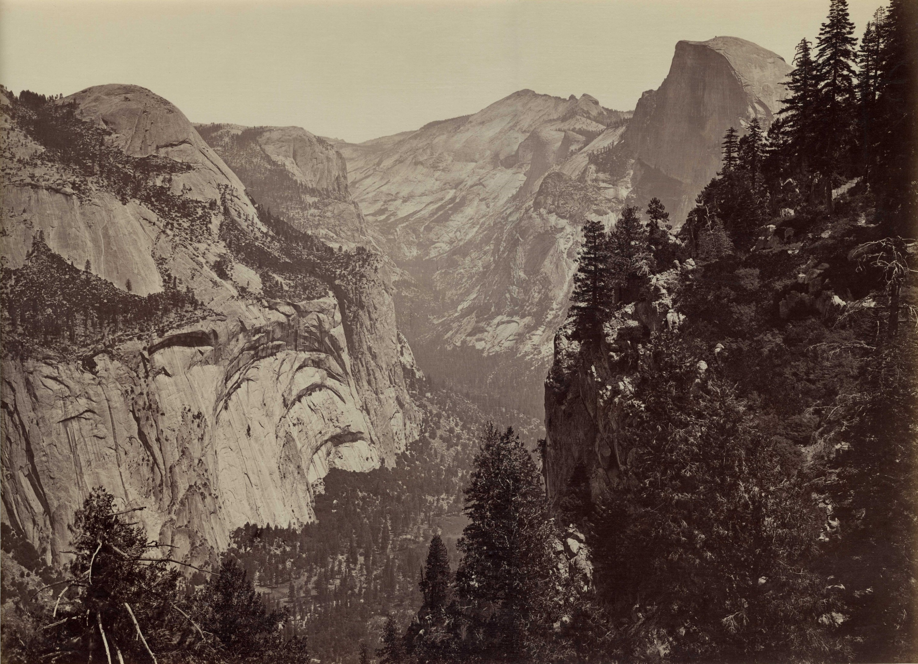 The Domes from Union Point, Yosemite, 1878-81