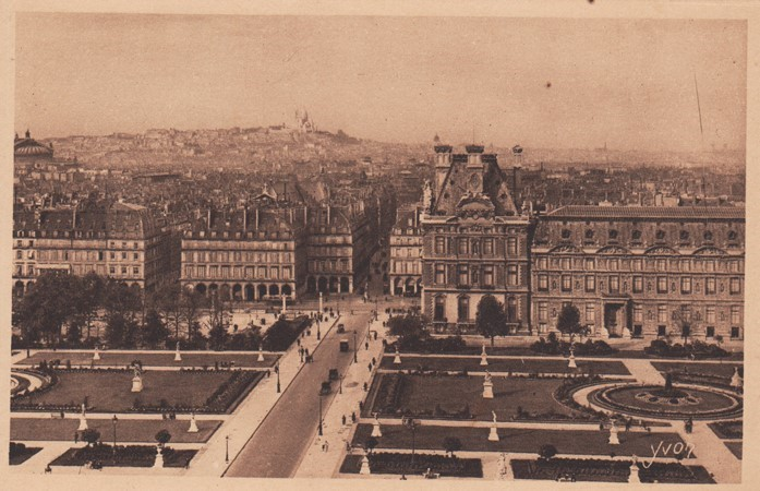 A View on the Tuileries Gardens, Monmarte hill and the Sacre-Coeur