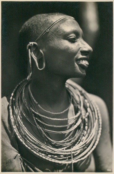 Kenyan Woman with Tribal Ornament