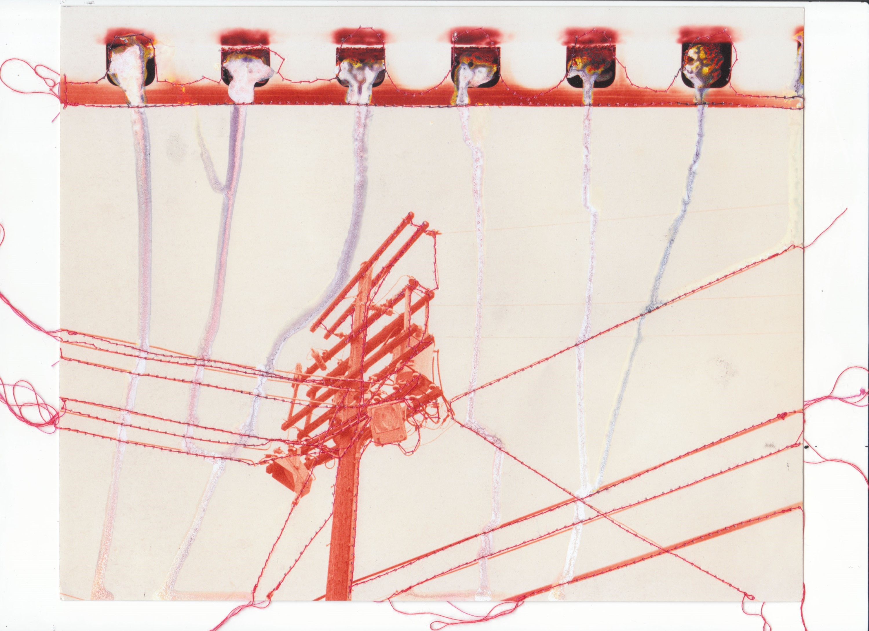 Untitled (Power Lines - Red)