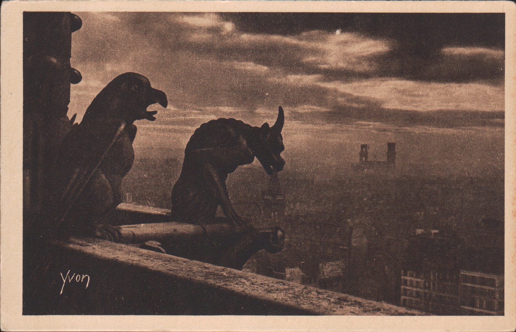 Gargoyles, Notre Dame, West Facing